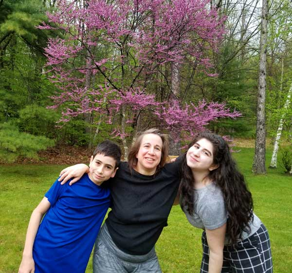 Jenny and Kids and Purple Tree